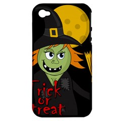 Halloween witch Apple iPhone 4/4S Hardshell Case (PC+Silicone)