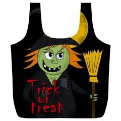 Halloween witch Full Print Recycle Bags (L)