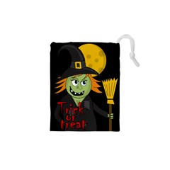 Halloween witch Drawstring Pouches (XS)