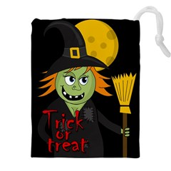Halloween witch Drawstring Pouches (XXL)