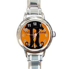 Halloween - witch boots Round Italian Charm Watch