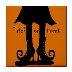 Halloween - witch boots Tile Coasters