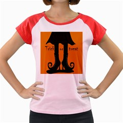 Halloween - witch boots Women s Cap Sleeve T-Shirt