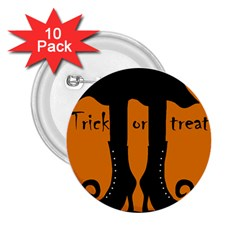 Halloween - witch boots 2.25  Buttons (10 pack)