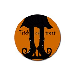Halloween - witch boots Rubber Coaster (Round)