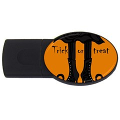 Halloween - witch boots USB Flash Drive Oval (2 GB)