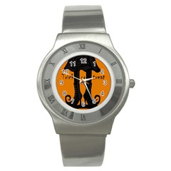 Halloween - witch boots Stainless Steel Watch