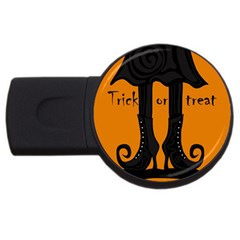 Halloween - witch boots USB Flash Drive Round (4 GB)