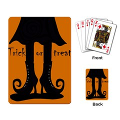 Halloween - witch boots Playing Card