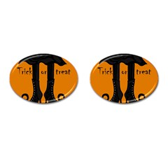 Halloween - witch boots Cufflinks (Oval)