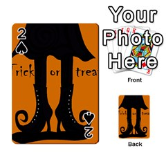 Halloween   Witch Boots Playing Cards 54 Designs