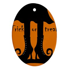Halloween - witch boots Oval Ornament (Two Sides)