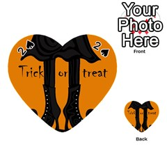 Halloween - witch boots Playing Cards 54 (Heart)