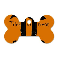 Halloween - witch boots Dog Tag Bone (Two Sides)