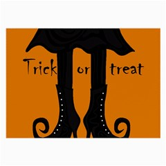 Halloween - witch boots Large Glasses Cloth (2-Side)