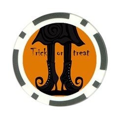 Halloween - witch boots Poker Chip Card Guards