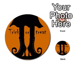 Halloween - witch boots Multi-purpose Cards (Round)