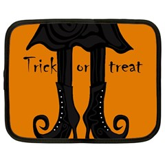 Halloween - witch boots Netbook Case (Large)