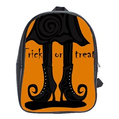 Halloween - witch boots School Bags(Large)
