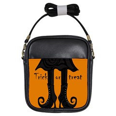 Halloween - witch boots Girls Sling Bags