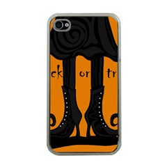 Halloween - witch boots Apple iPhone 4 Case (Clear)