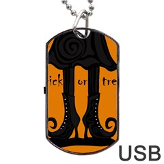 Halloween - witch boots Dog Tag USB Flash (Two Sides)
