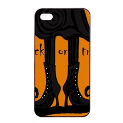 Halloween - witch boots Apple iPhone 4/4s Seamless Case (Black)