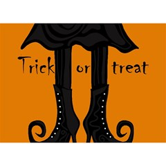 Halloween - witch boots Birthday Cake 3D Greeting Card (7x5)