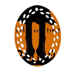 Halloween - witch boots Ornament (Oval Filigree)