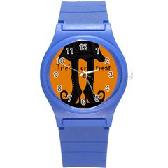Halloween - witch boots Round Plastic Sport Watch (S)