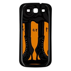 Halloween - witch boots Samsung Galaxy S3 Back Case (Black)