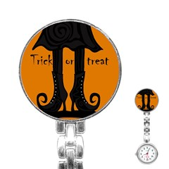 Halloween - witch boots Stainless Steel Nurses Watch