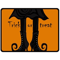 Halloween - witch boots Double Sided Fleece Blanket (Large)