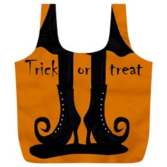Halloween - witch boots Full Print Recycle Bags (L)