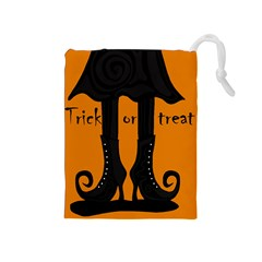 Halloween - witch boots Drawstring Pouches (Medium)