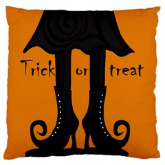 Halloween - witch boots Large Flano Cushion Case (One Side)