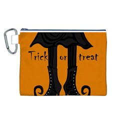 Halloween - witch boots Canvas Cosmetic Bag (L)