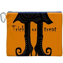 Halloween - witch boots Canvas Cosmetic Bag (XXXL)