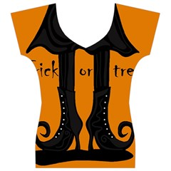 Halloween - witch boots Women s V-Neck Cap Sleeve Top
