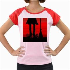 Halloween black witch Women s Cap Sleeve T-Shirt