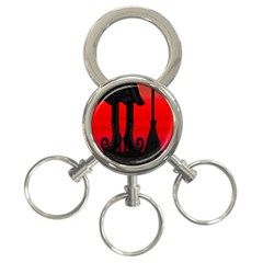 Halloween black witch 3-Ring Key Chains