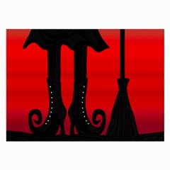 Halloween black witch Large Glasses Cloth