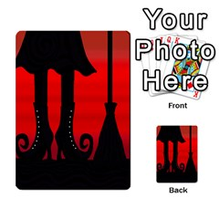 Halloween black witch Multi-purpose Cards (Rectangle)