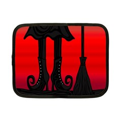 Halloween black witch Netbook Case (Small)