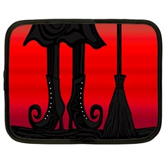 Halloween black witch Netbook Case (Large)