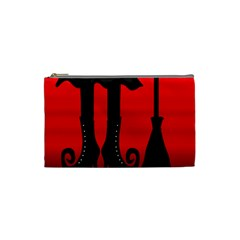 Halloween black witch Cosmetic Bag (Small)