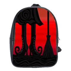 Halloween black witch School Bags(Large)