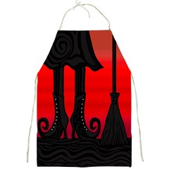 Halloween black witch Full Print Aprons