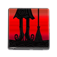 Halloween black witch Memory Card Reader (Square)