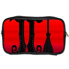 Halloween black witch Toiletries Bags
